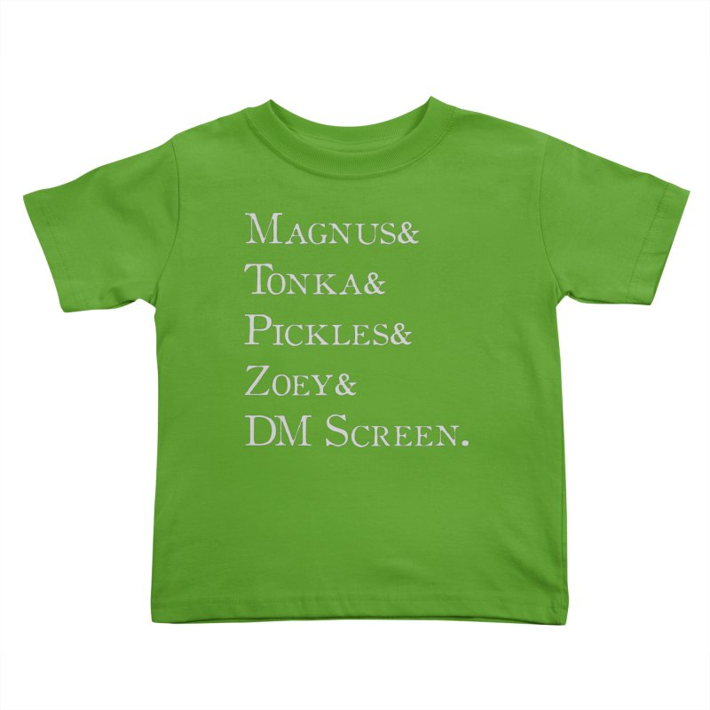 Magnus&Tonka&Pickles&Zoey&DM Screen Kids Toddler T-Shirt by DnDoggos's Artist Shop