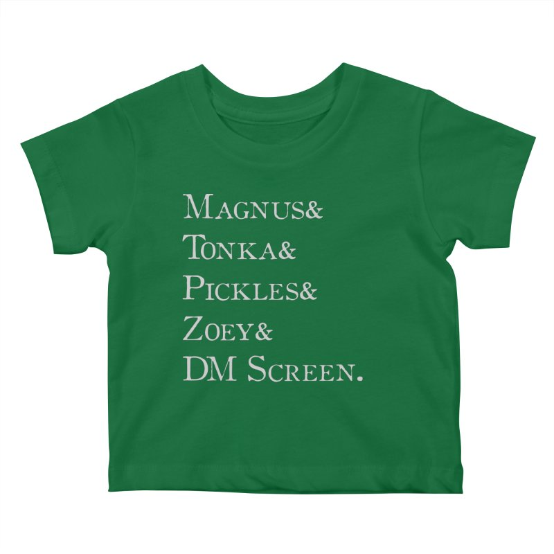 Magnus&Tonka&Pickles&Zoey&DM Screen Kids Baby T-Shirt by DnDoggos's Artist Shop