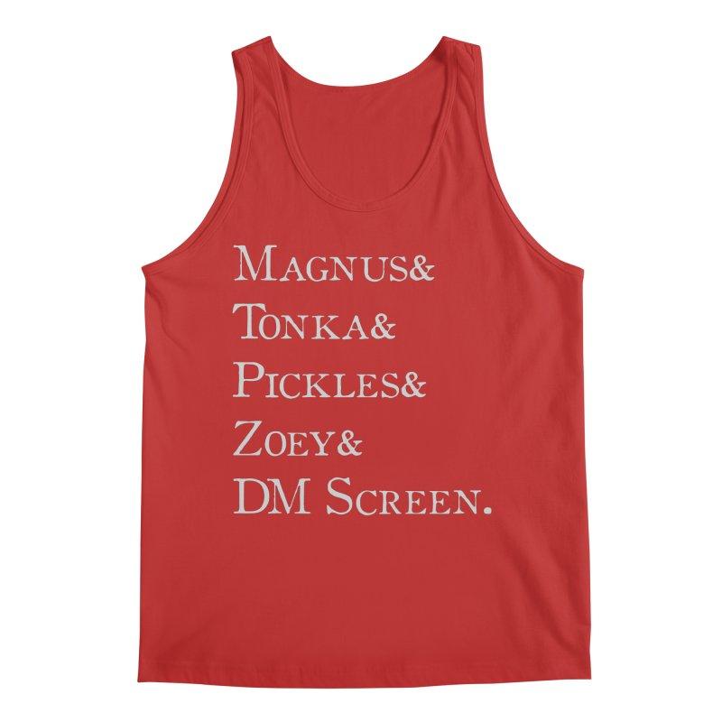 Magnus&Tonka&Pickles&Zoey&DM Screen Men's Tank by DnDoggos's Artist Shop