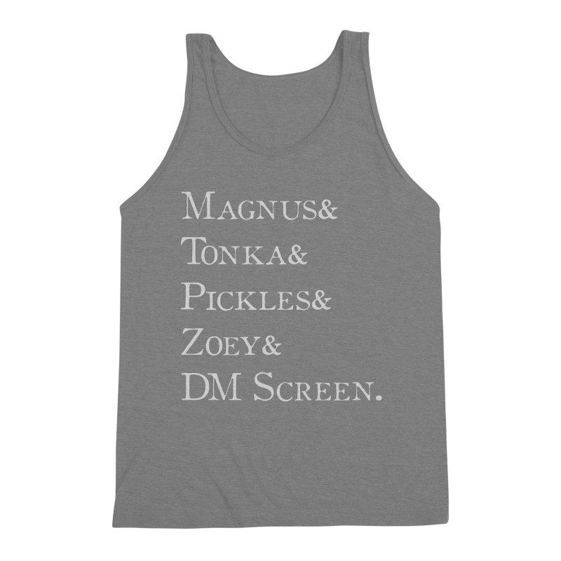 Magnus&Tonka&Pickles&Zoey&DM Screen Men's Triblend Tank by DnDoggos's Artist Shop