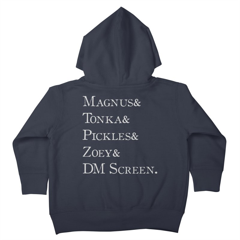 Magnus&Tonka&Pickles&Zoey&DM Screen Kids Toddler Zip-Up Hoody by DnDoggos's Artist Shop