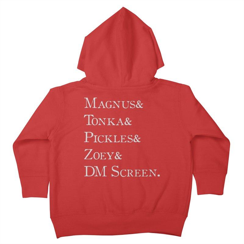 Magnus&Tonka&Pickles&Zoey&DM Screen Kids Toddler Zip-Up Hoody by DnDoggos's Artist Shop