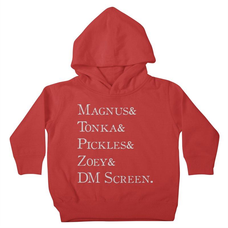 Magnus&Tonka&Pickles&Zoey&DM Screen Kids Toddler Pullover Hoody by DnDoggos's Artist Shop