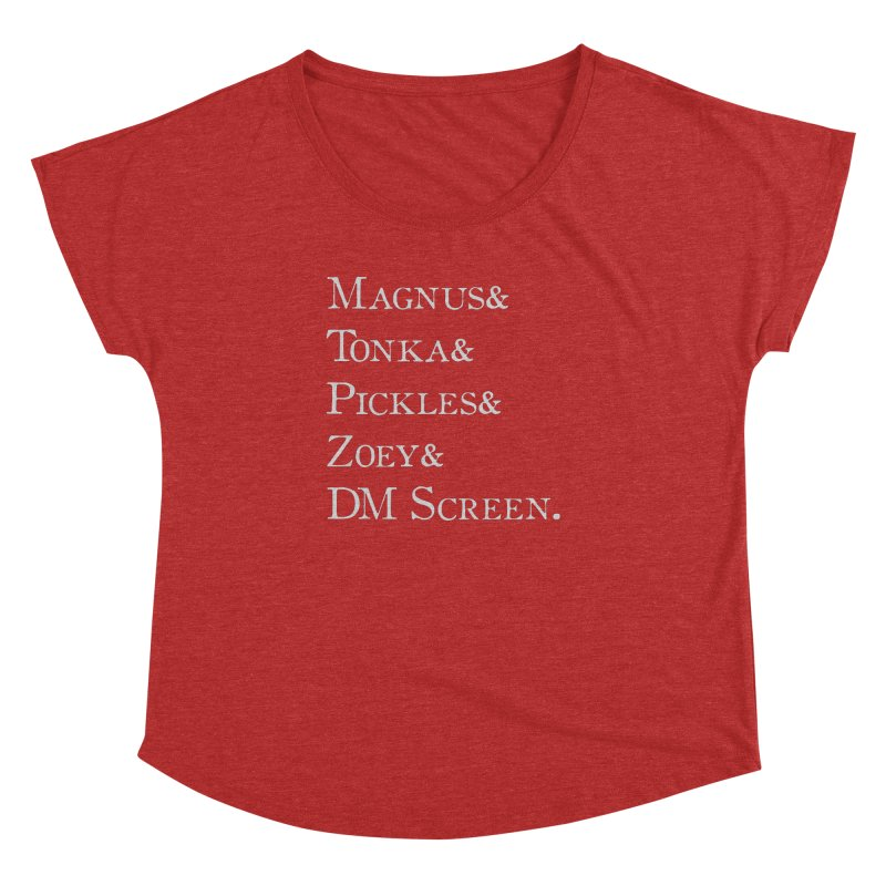 Magnus&Tonka&Pickles&Zoey&DM Screen Women's Dolman Scoop Neck by DnDoggos's Artist Shop