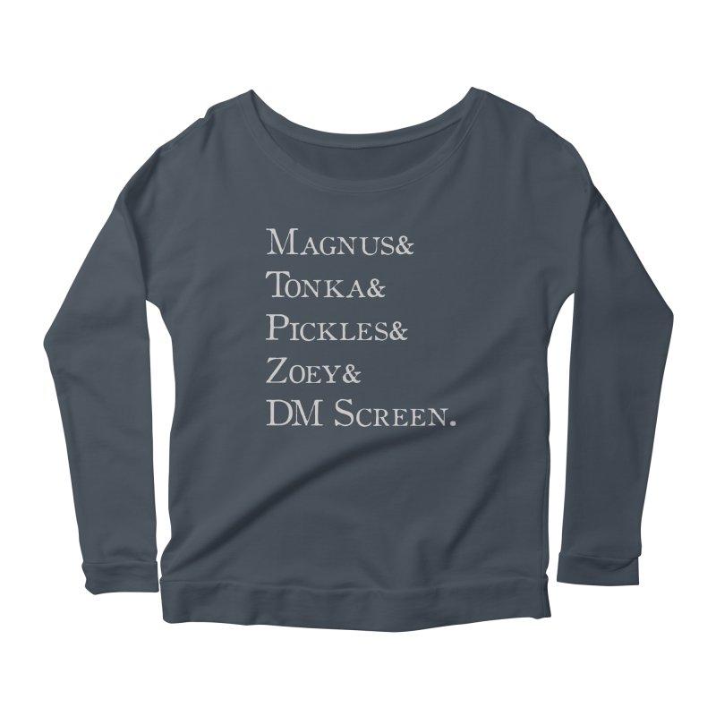 Magnus&Tonka&Pickles&Zoey&DM Screen Women's Scoop Neck Longsleeve T-Shirt by DnDoggos's Artist Shop