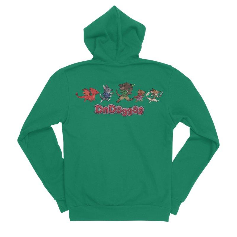 The DnDoggos Women's Sponge Fleece Zip-Up Hoody by DnDoggos's Artist Shop