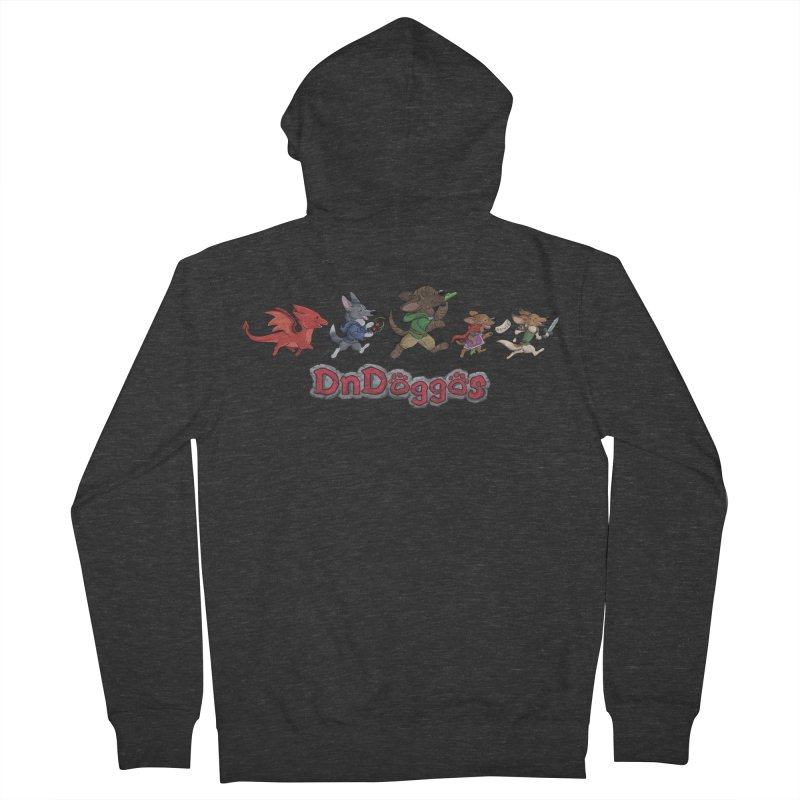 The DnDoggos Women's French Terry Zip-Up Hoody by DnDoggos's Artist Shop