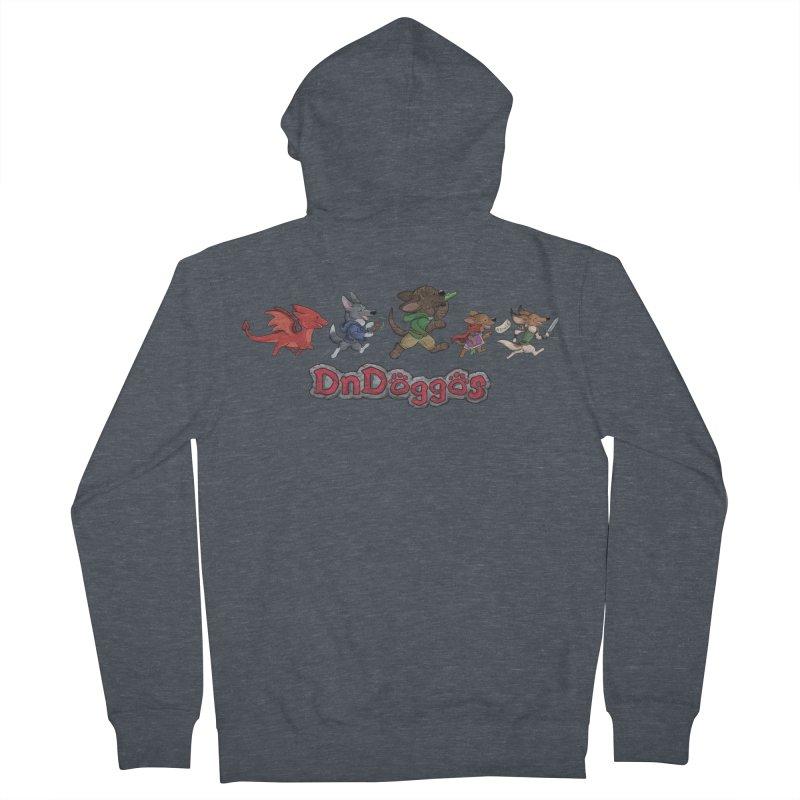 The DnDoggos Men's Zip-Up Hoody by DnDoggos's Artist Shop