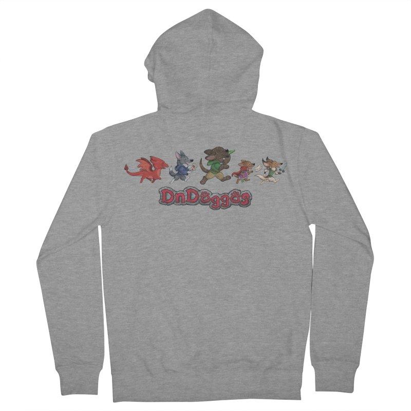 The DnDoggos Men's French Terry Zip-Up Hoody by DnDoggos's Artist Shop