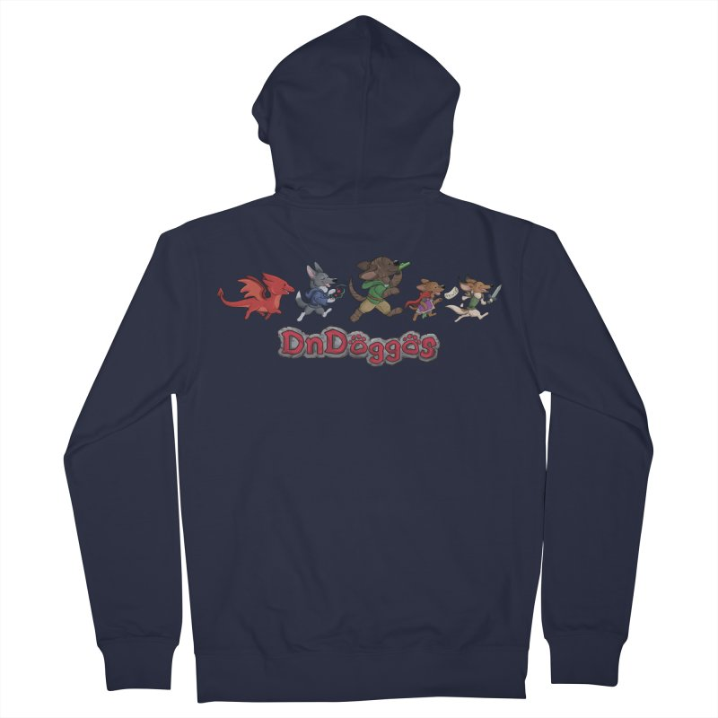 The DnDoggos Men's French Terry Zip-Up Hoody by DnDoggos's Artist Shop