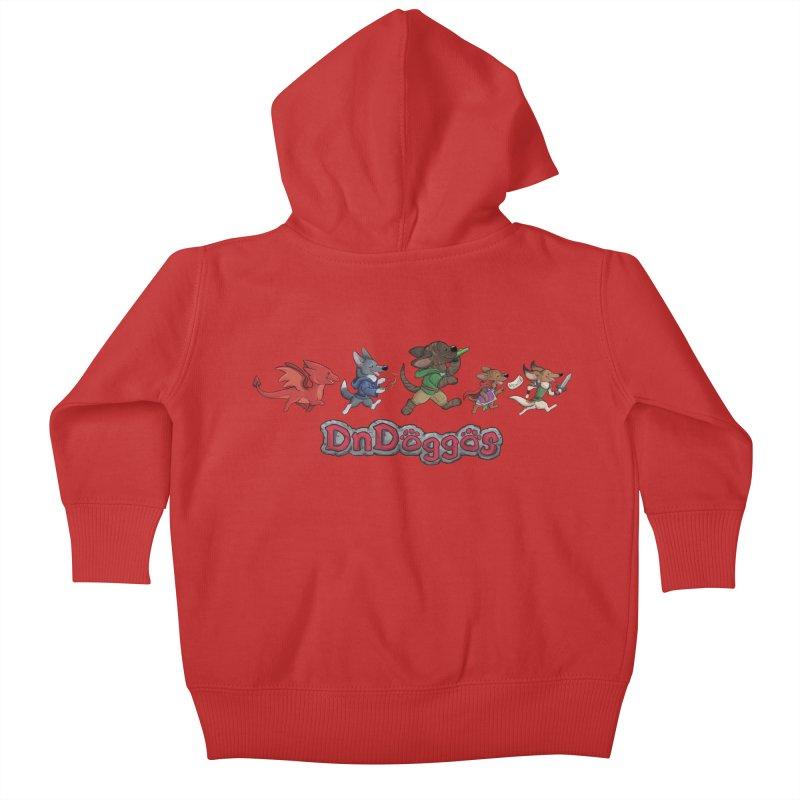 The DnDoggos Kids Baby Zip-Up Hoody by DnDoggos's Artist Shop