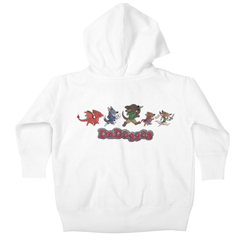 The DnDoggos Kids Baby Zip-Up Hoody by DnDoggos's Artist Shop