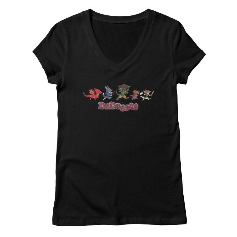 The DnDoggos Women's V-Neck by DnDoggos's Artist Shop