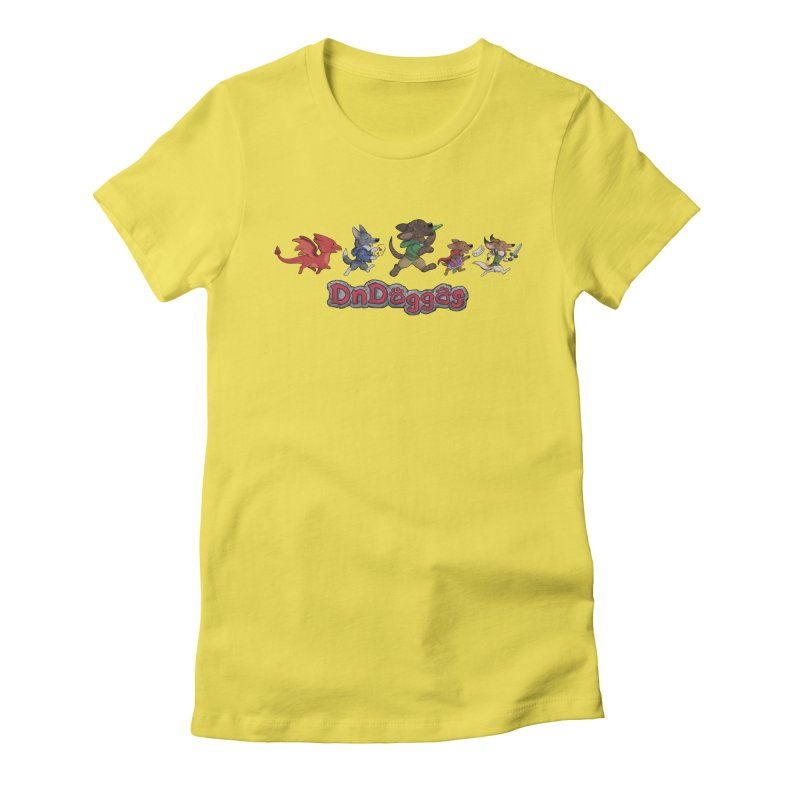 The DnDoggos Women's Fitted T-Shirt by DnDoggos's Artist Shop