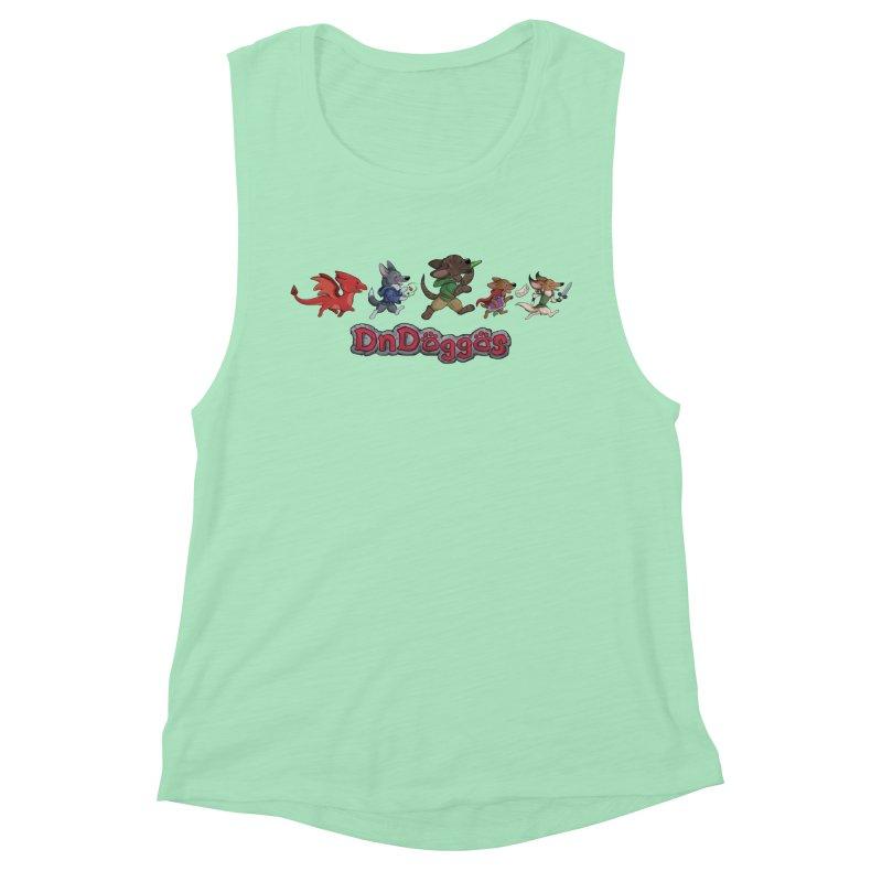 The DnDoggos Women's Muscle Tank by DnDoggos's Artist Shop