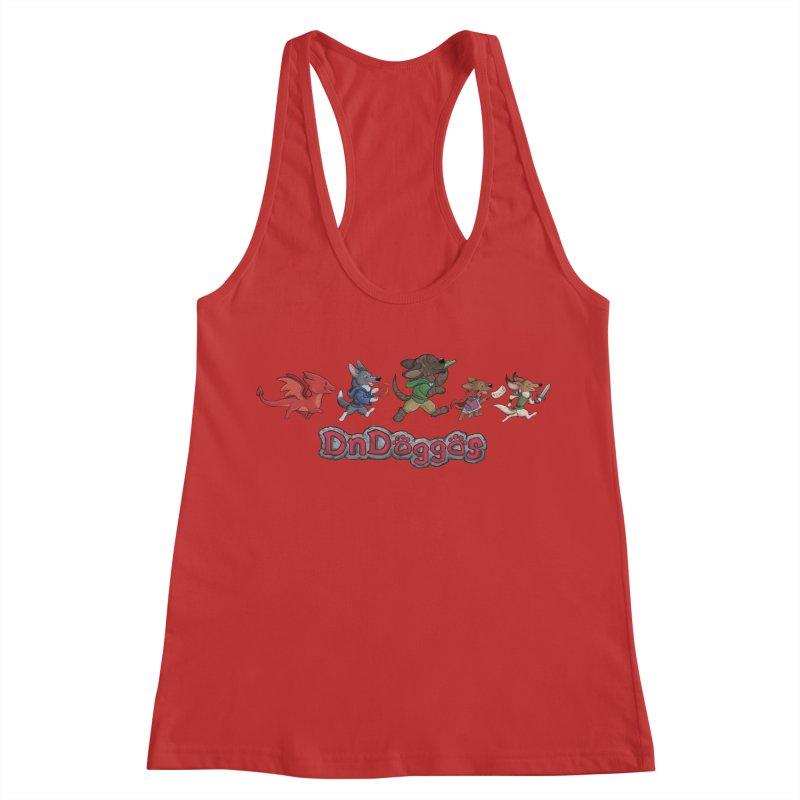 The DnDoggos Women's Racerback Tank by DnDoggos's Artist Shop