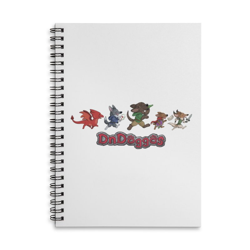 The DnDoggos Accessories Lined Spiral Notebook by DnDoggos's Artist Shop