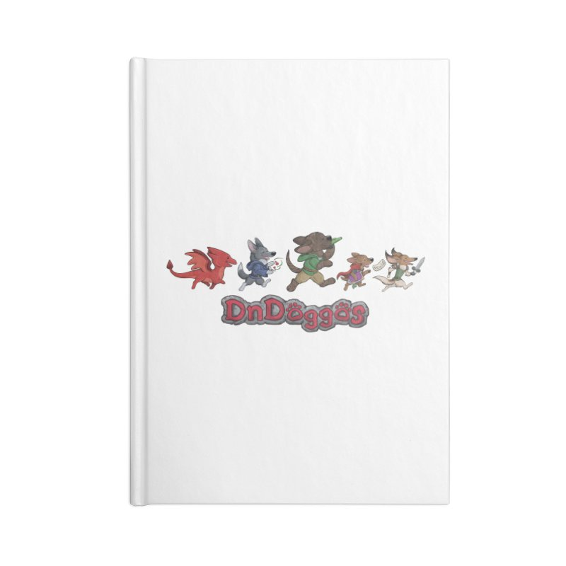 The DnDoggos Accessories Lined Journal Notebook by DnDoggos's Artist Shop