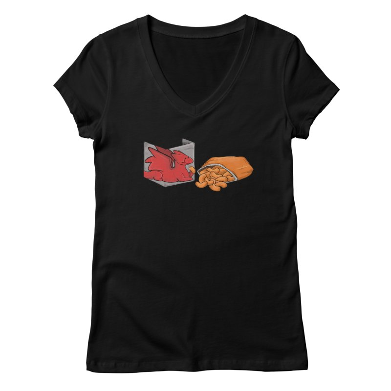 Munchies Women's V-Neck by DnDoggos's Artist Shop