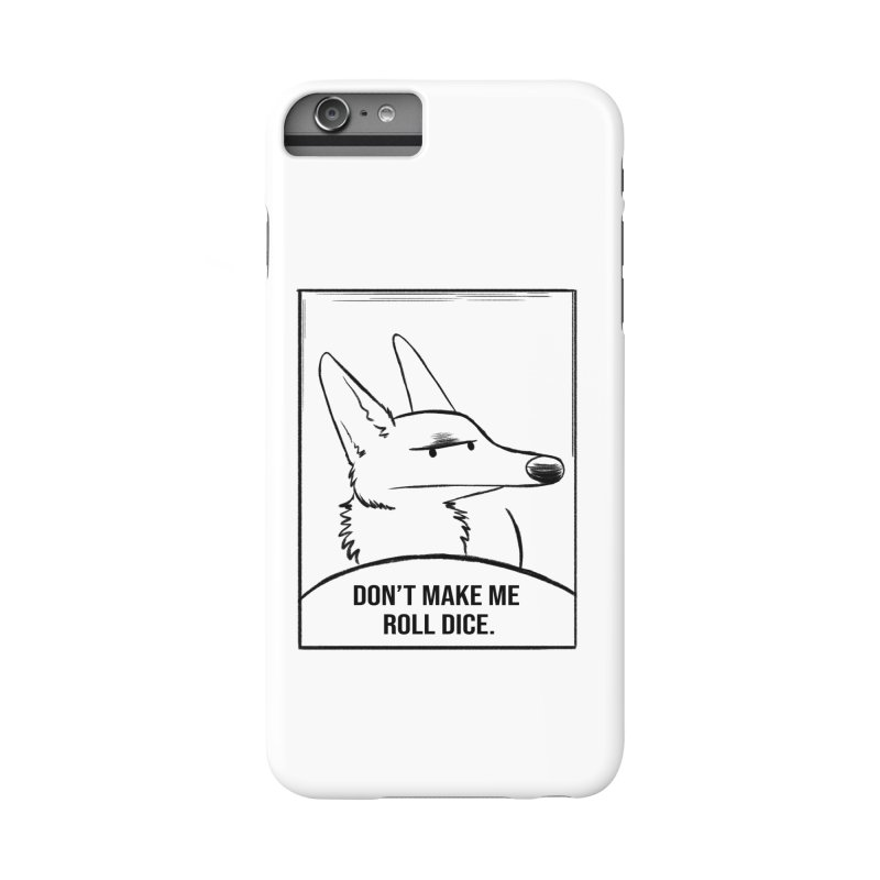 Don't Make Me Roll Dice Comic Panel Accessories Phone Case by DnDoggos's Artist Shop