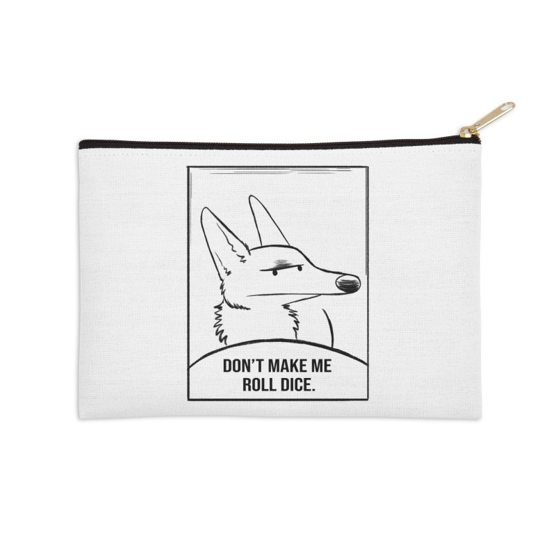 Don't Make Me Roll Dice Comic Panel Accessories Zip Pouch by DnDoggos's Artist Shop