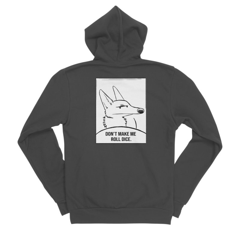 Don't Make Me Roll Dice Comic Panel Men's Zip-Up Hoody by DnDoggos's Artist Shop