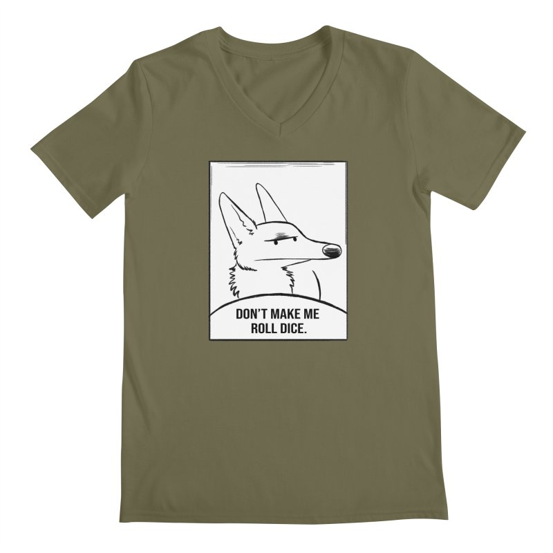 Don't Make Me Roll Dice Comic Panel Men's V-Neck by DnDoggos's Artist Shop