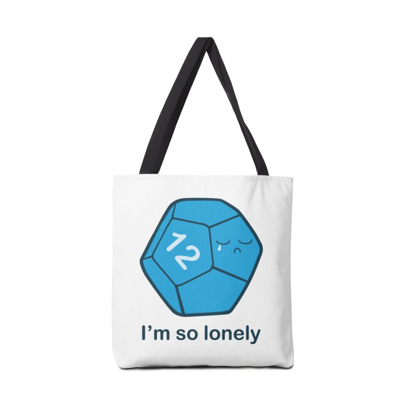 Lonely d12 Accessories Tote Bag Bag by DnDoggos's Artist Shop