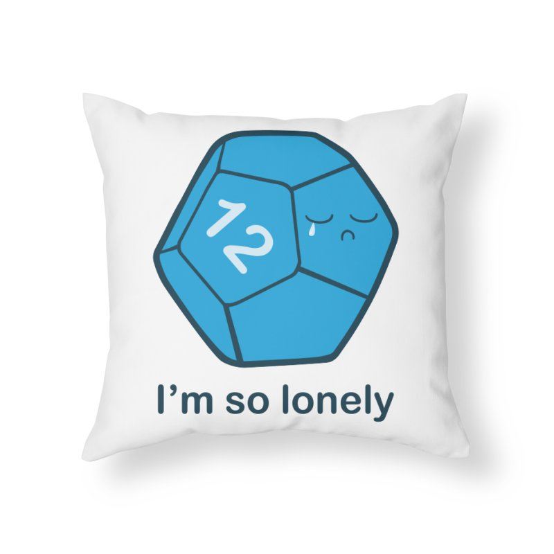 Lonely d12 Home Throw Pillow by DnDoggos's Artist Shop