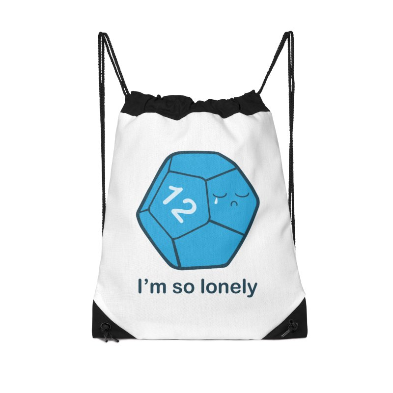 Lonely d12 Accessories Drawstring Bag Bag by DnDoggos's Artist Shop