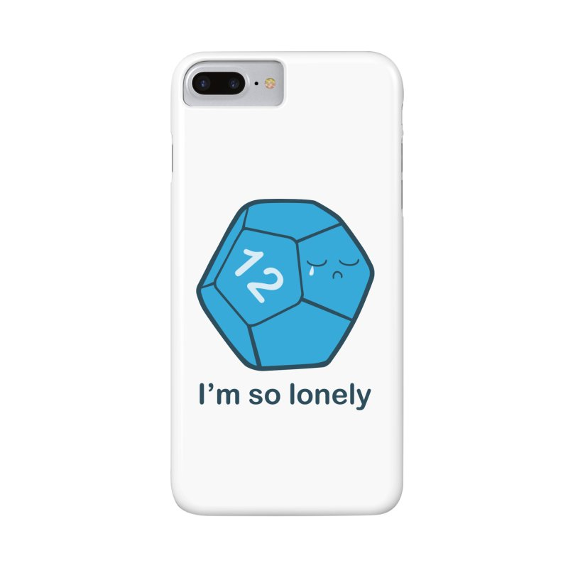 Lonely d12 Accessories Phone Case by DnDoggos's Artist Shop