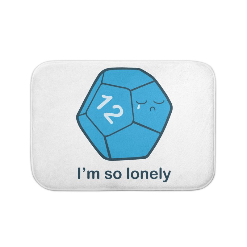 Lonely d12 Home Bath Mat by DnDoggos's Artist Shop