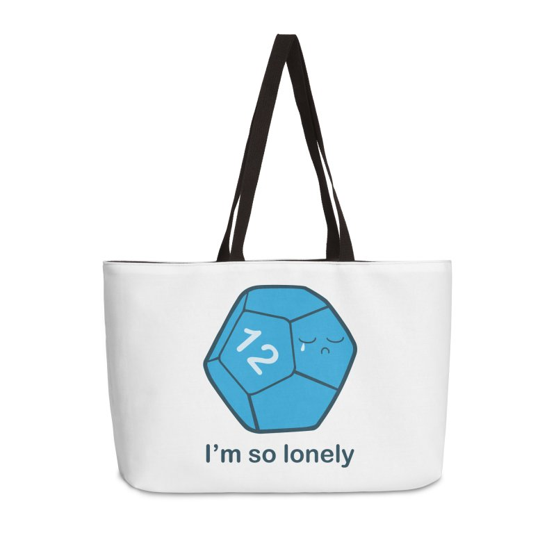 Lonely d12 Accessories Weekender Bag Bag by DnDoggos's Artist Shop