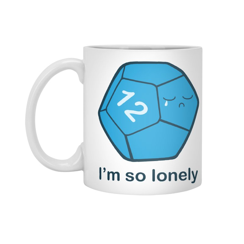 Lonely d12 Accessories Standard Mug by DnDoggos's Artist Shop