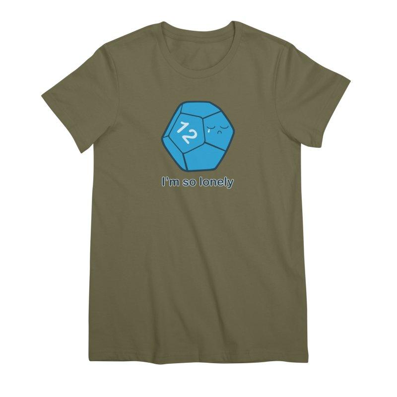 Lonely d12 Women's Premium T-Shirt by DnDoggos's Artist Shop