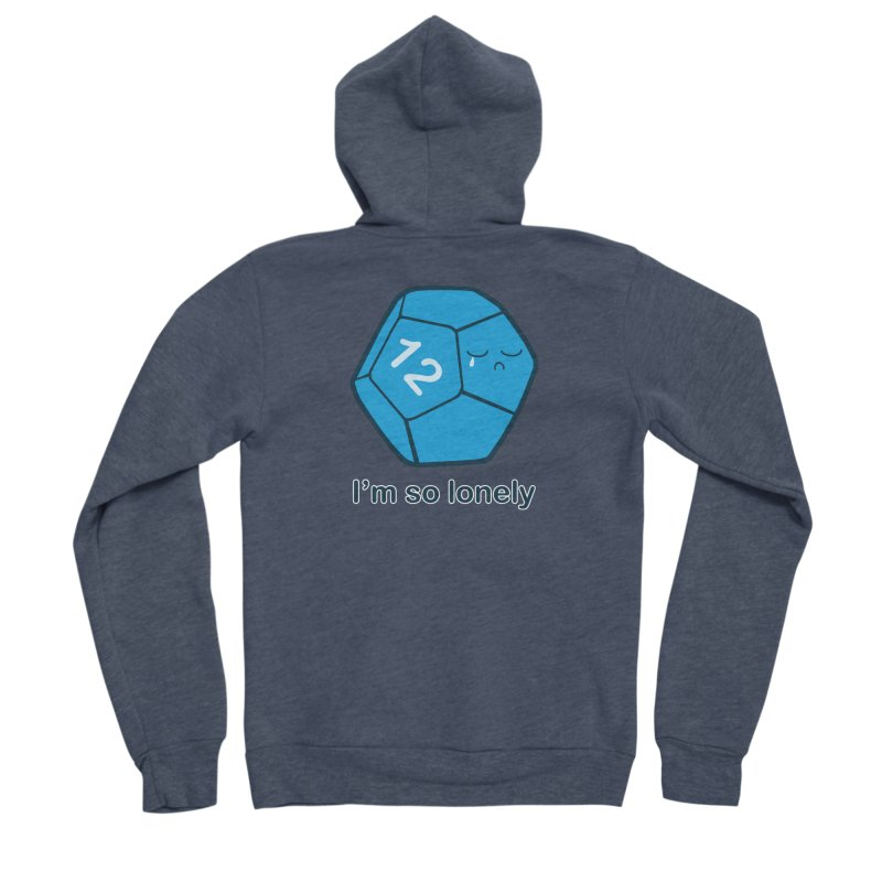 Lonely d12 Men's Sponge Fleece Zip-Up Hoody by DnDoggos's Artist Shop