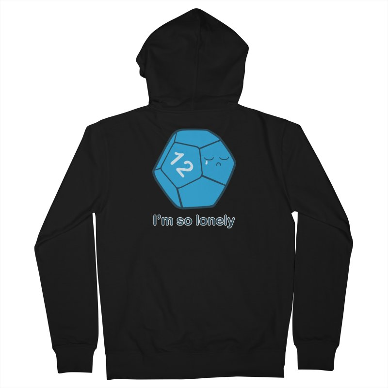 Lonely d12 Men's Zip-Up Hoody by DnDoggos's Artist Shop