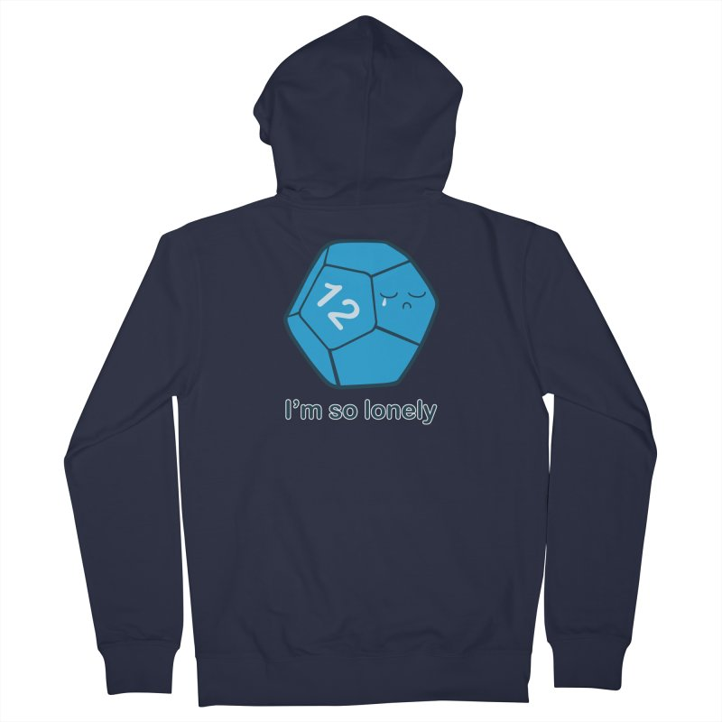 Lonely d12 Men's French Terry Zip-Up Hoody by DnDoggos's Artist Shop