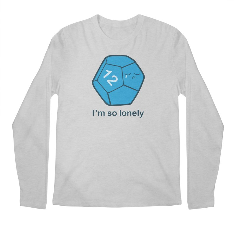 Lonely d12 Men's Regular Longsleeve T-Shirt by DnDoggos's Artist Shop