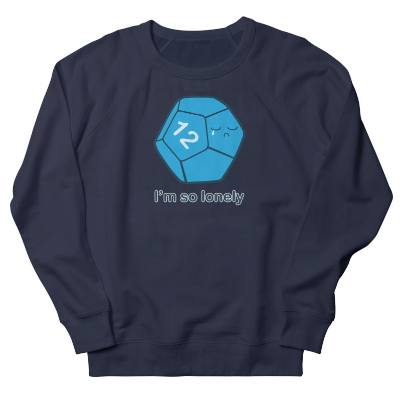 Lonely d12 Men's French Terry Sweatshirt by DnDoggos's Artist Shop
