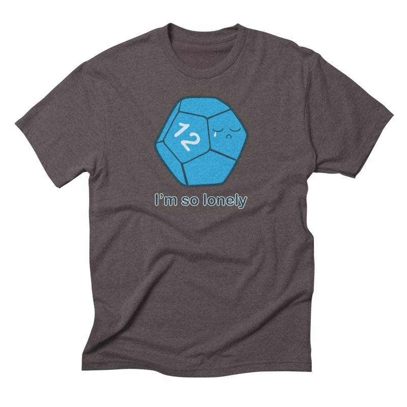 Lonely d12 Men's Triblend T-Shirt by DnDoggos's Artist Shop