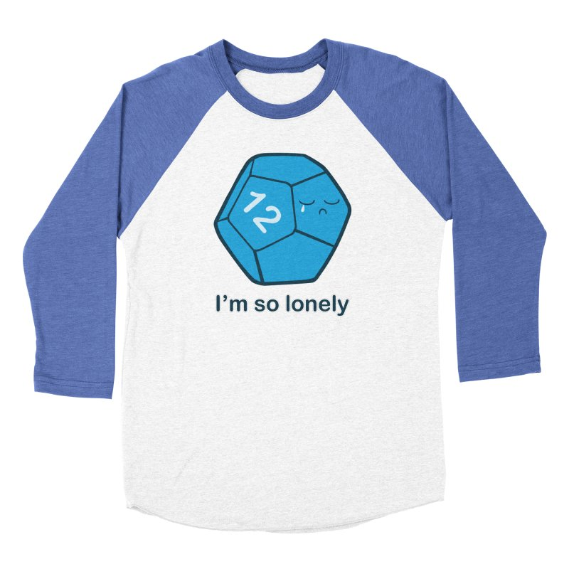 Lonely d12 Women's Baseball Triblend Longsleeve T-Shirt by DnDoggos's Artist Shop