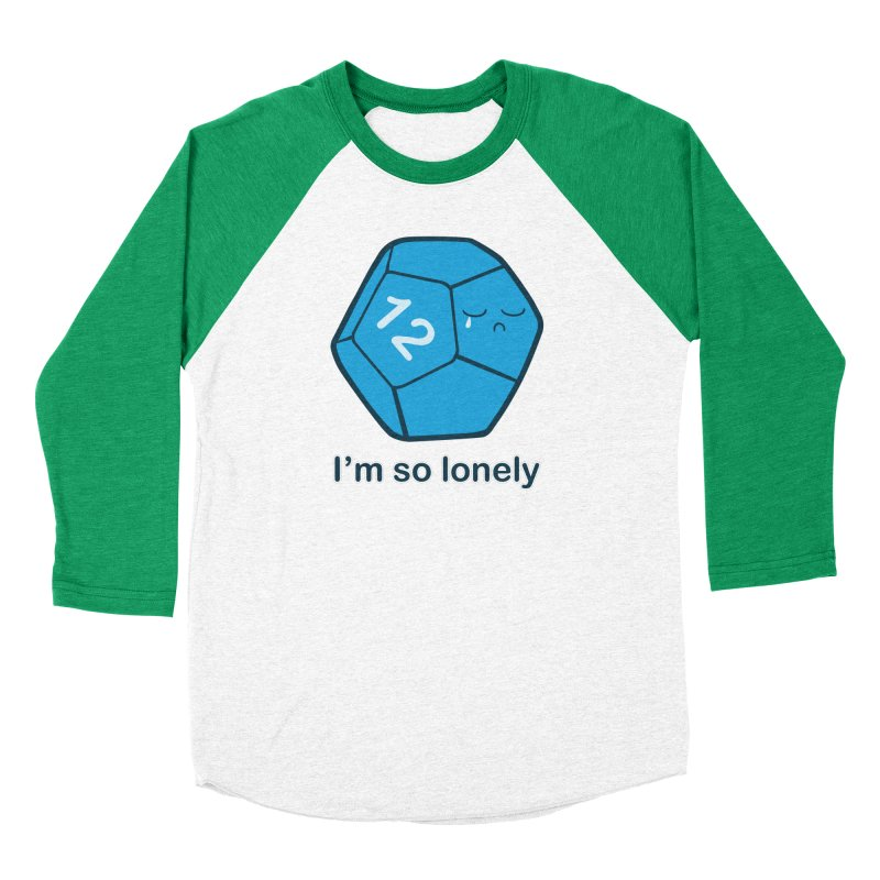 Lonely d12 Women's Baseball Triblend Longsleeve T-Shirt by DnDoggos's Artist Shop
