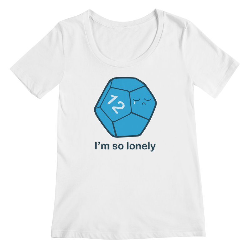 Lonely d12 Women's Regular Scoop Neck by DnDoggos's Artist Shop