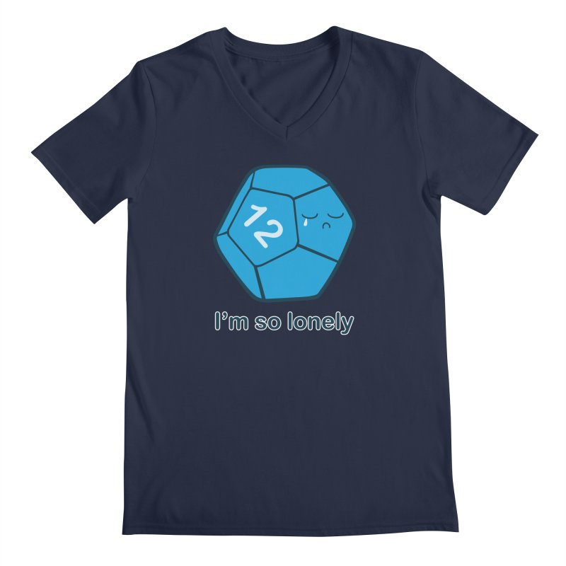 Lonely d12 Men's Regular V-Neck by DnDoggos's Artist Shop