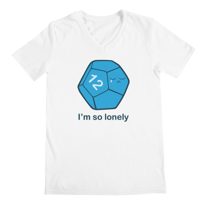 Lonely d12 Men's V-Neck by DnDoggos's Artist Shop