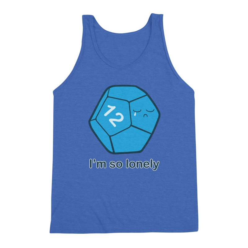 Lonely d12 Men's Triblend Tank by DnDoggos's Artist Shop