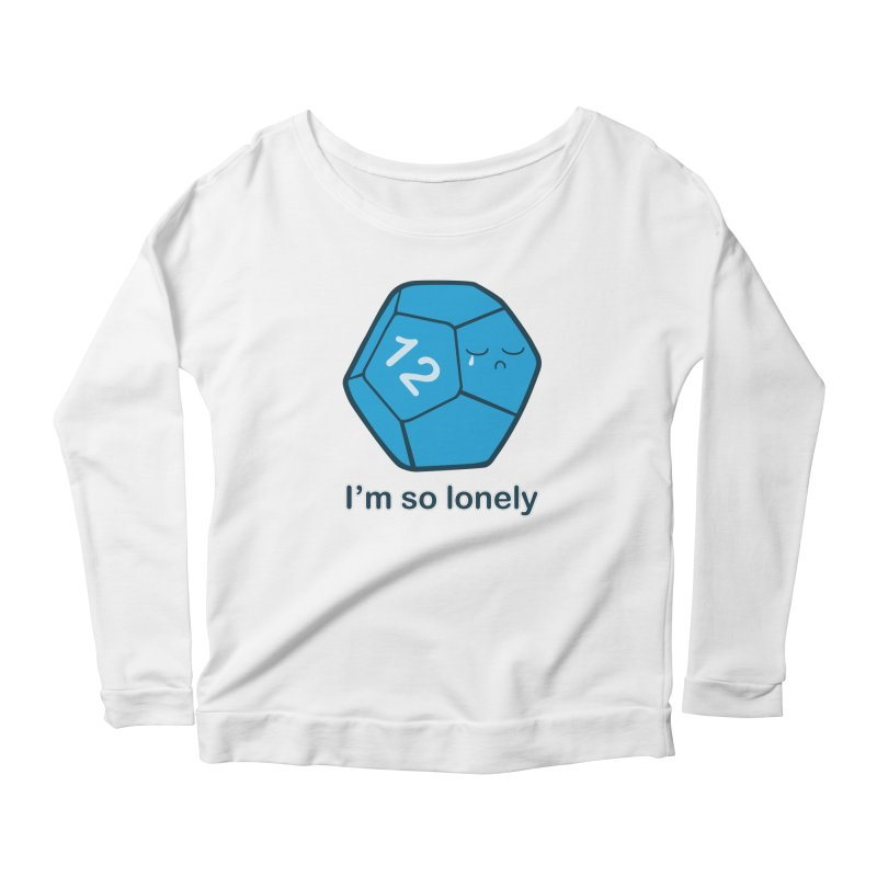 Lonely d12 Women's Scoop Neck Longsleeve T-Shirt by DnDoggos's Artist Shop