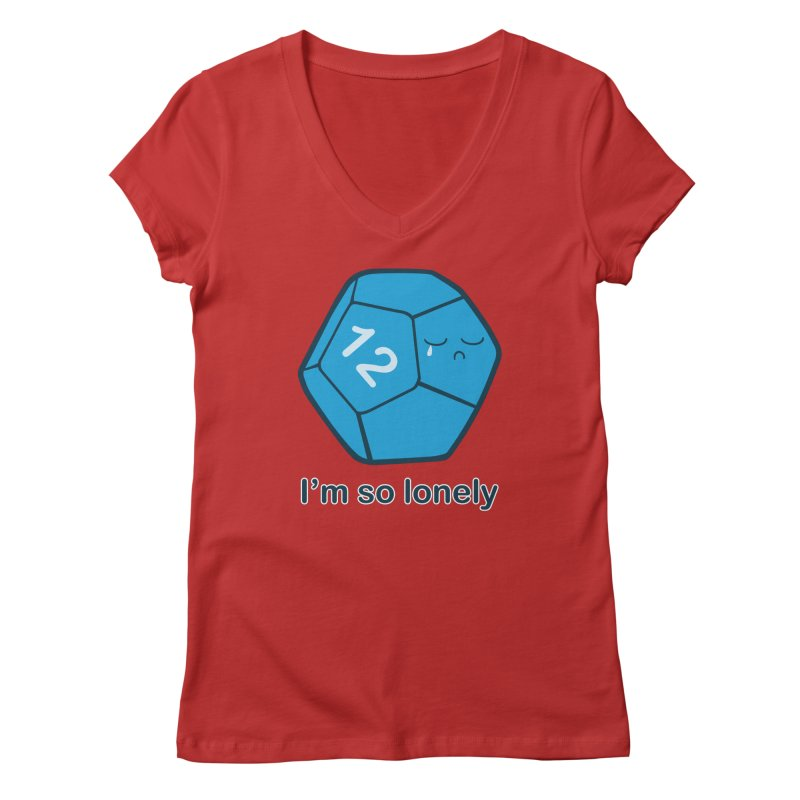 Lonely d12 Women's Regular V-Neck by DnDoggos's Artist Shop