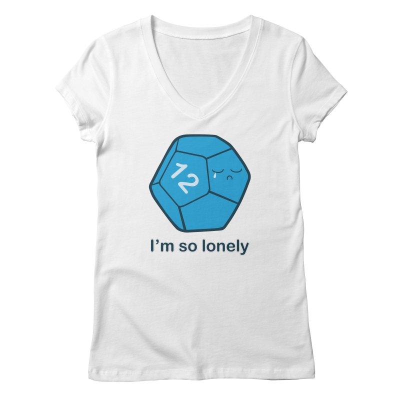 Lonely d12 Women's Regular V-Neck by DnDoggos's Artist Shop